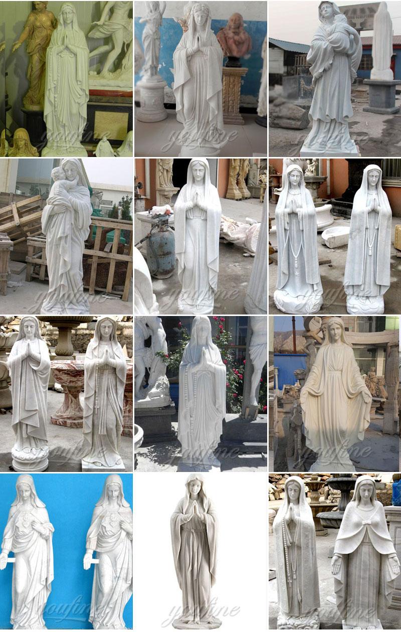 religious jesus mary statues
