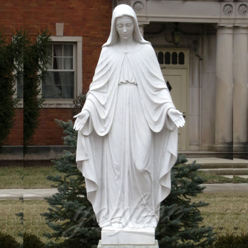 2018 Home Decoration White Marble Our lady of Grace Mary Statue on Stock
