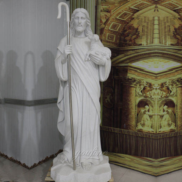 Factory Direct Supply Religious Statues of Natural Marble Jesus Statue for Sale
