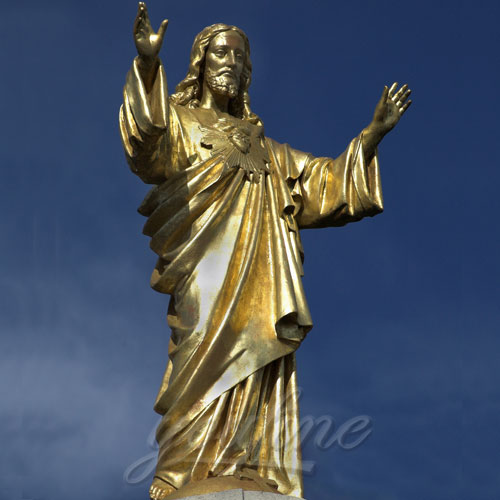 Bronze Standing Jesus Sculpture with Hands Opening Statues for Sale