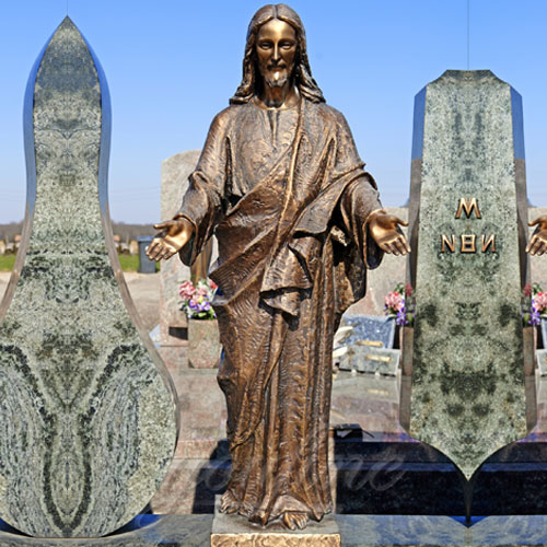 Garden Antique Bronze Religious Statues of Jesus Open Arms for Sale