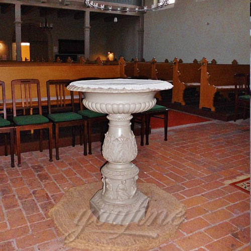 Direct Factory Religious Statues of Small Marble Font Large Variety In Stock Now