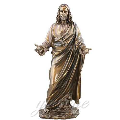 Factory Direct Sale Bronze Jesus Religious Statues Decoration