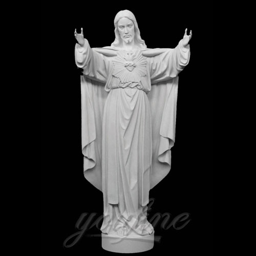 Famous Outdoor Jesus Stone Statue with Open Hand for garden Decor