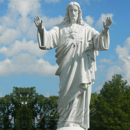Famous Outdoor White Marble Stone Religions Jesus Statue for Church