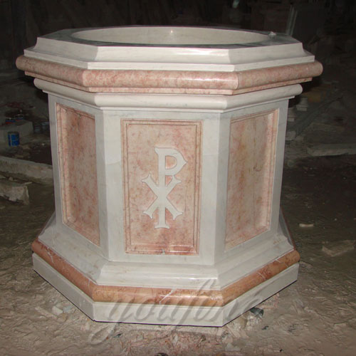 Hot Selling Religious Statues of Natural Stone Font of Church from China Supplier