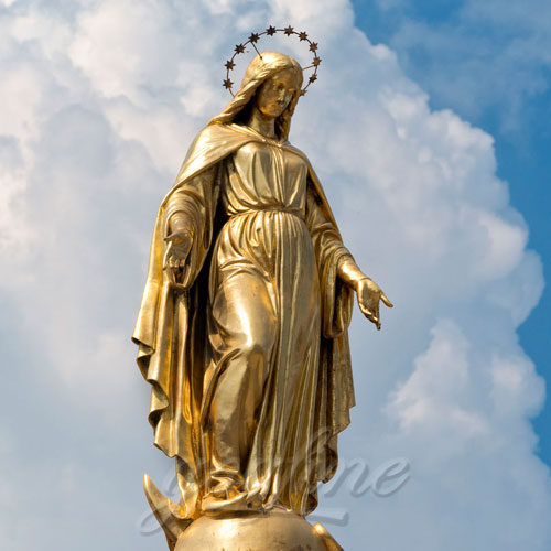 Hot Selling Outdoor Life Size Antique Cast Bronze Mother Mary Statue for Decor