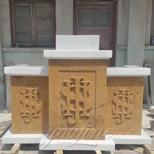 New Design Christian Religious Statues of Marble Pulpit for Church