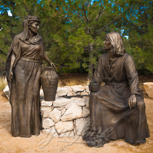 Outdoor Bronze Religious Garden Jesus Figures Statue for sale