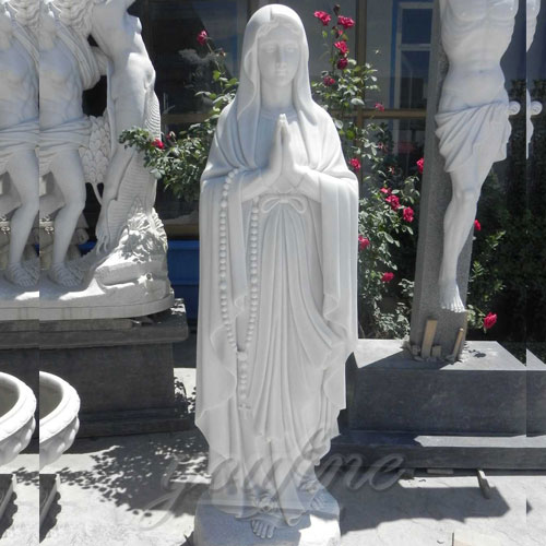 Outdoor White Blessed Marble Virgin Mary Statues of Our Lady of Lourdes for Hot Selling