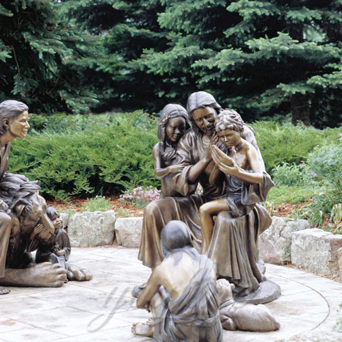 Popular Religious Design Of Outdoor Jesus Statue with Child for Sale