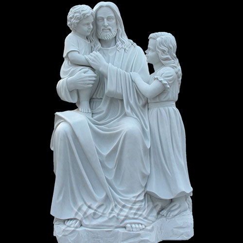 Popular Designs Marble Stone Jesus Statue and Child Statues for Wholesales
