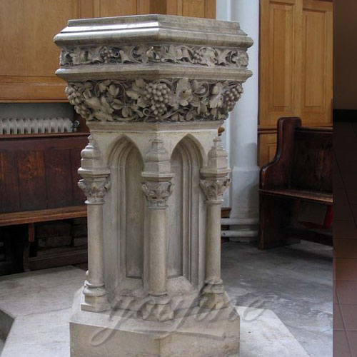 Religious Statues of Marble Font Church Furniture for Sale