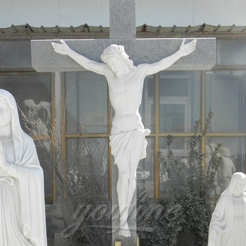 Religious Statues of Marble catholic church crucifix for sale