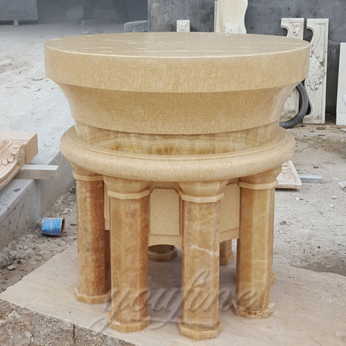 Small Indoor Religious Statues of Marble Altar Table for Church Decor