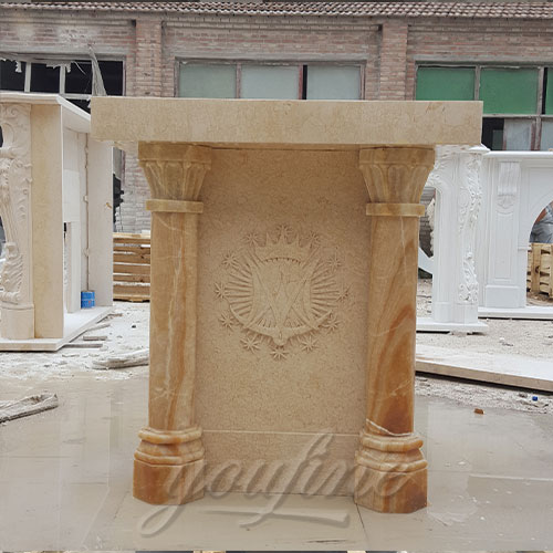 Top Quality Religious Statues of Marble Hand Carved Pulpit for Church Decor for Sale