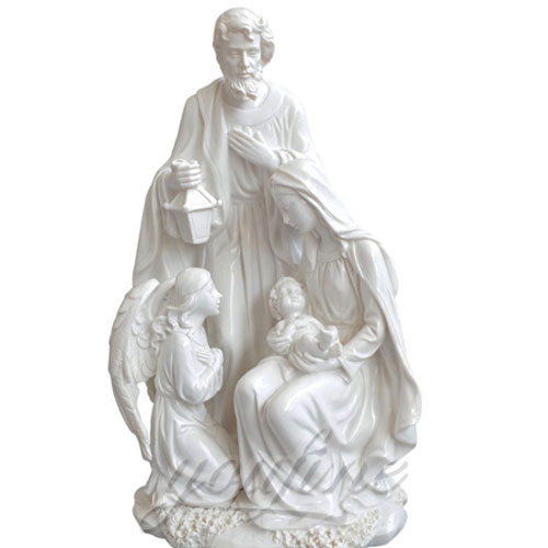 Virgin Mary Statue Marble Jesus Holy Family Statues 5 Foot for Indoor Decor