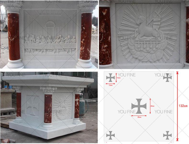 Customized church marble altar sculpture for Australian clients