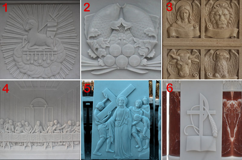 religious statues of marble relief designs