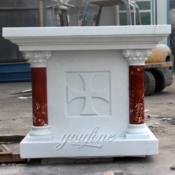 Religious statues of customized church marble altar sculpture for Australian clients