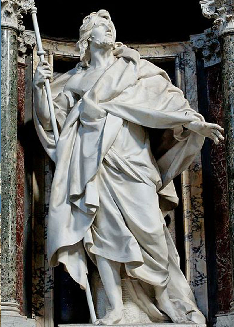 Outdoor religious statues of Saint James for church decor