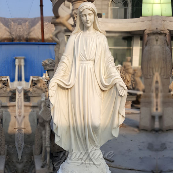 Catholic life size marble mary religious statues of our lady of grace for garden