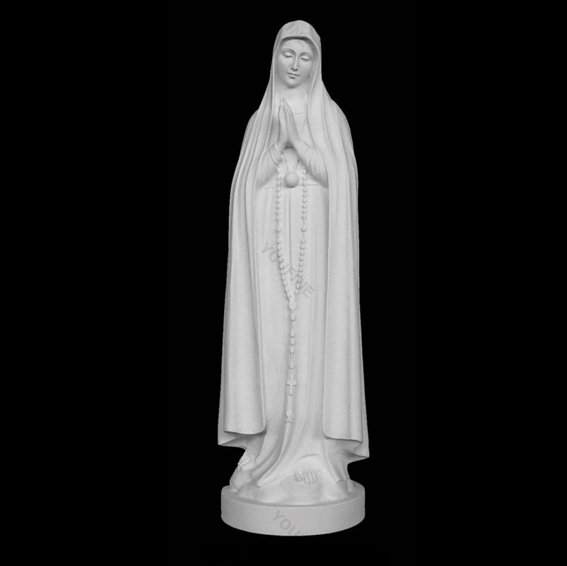 Catholic statues of our lady blessed with rosary beads design wholesale