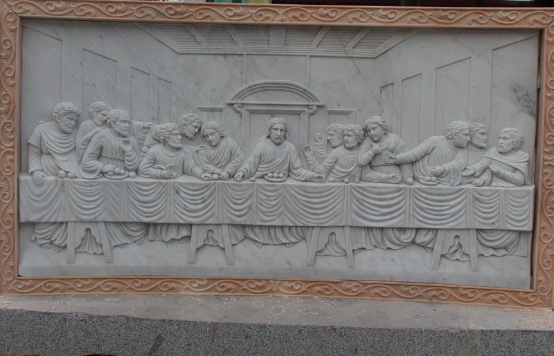 Church decor religious statues of the last dinner designs