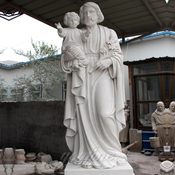 Large religious statues of St.Joseph with baby jesus for outdoor decor