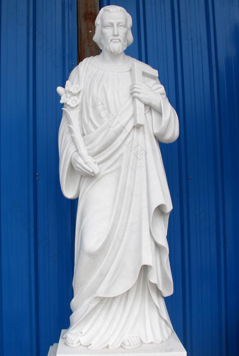 Life size religious St.Joseph sculptures for church interior decor designs