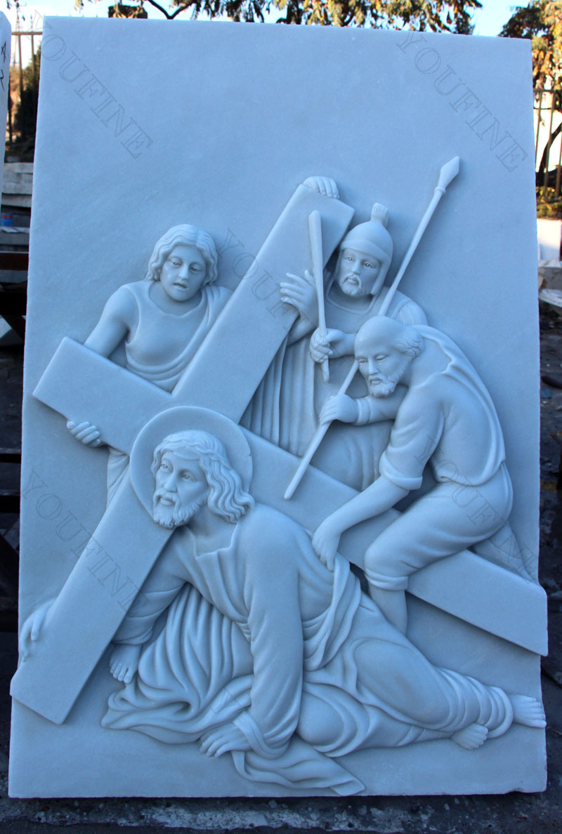 Marble carving relief sculptures the stations of the cross for sale designs