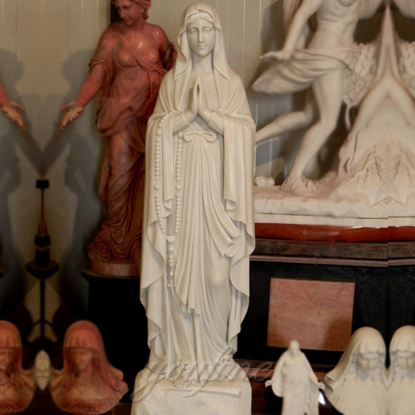 Outdoor life size mary garden statues of our lady of Lourdes for sale