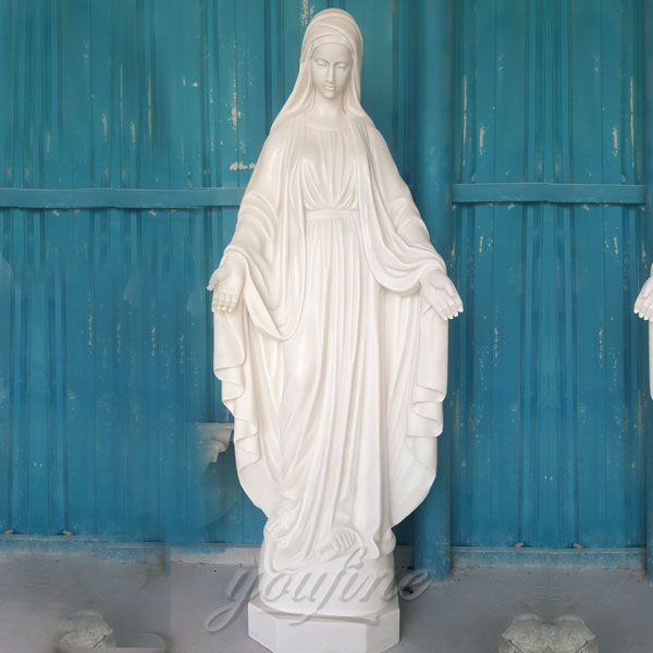 Outdoor white marble mary religious statues catholic of our lady of grace for sale