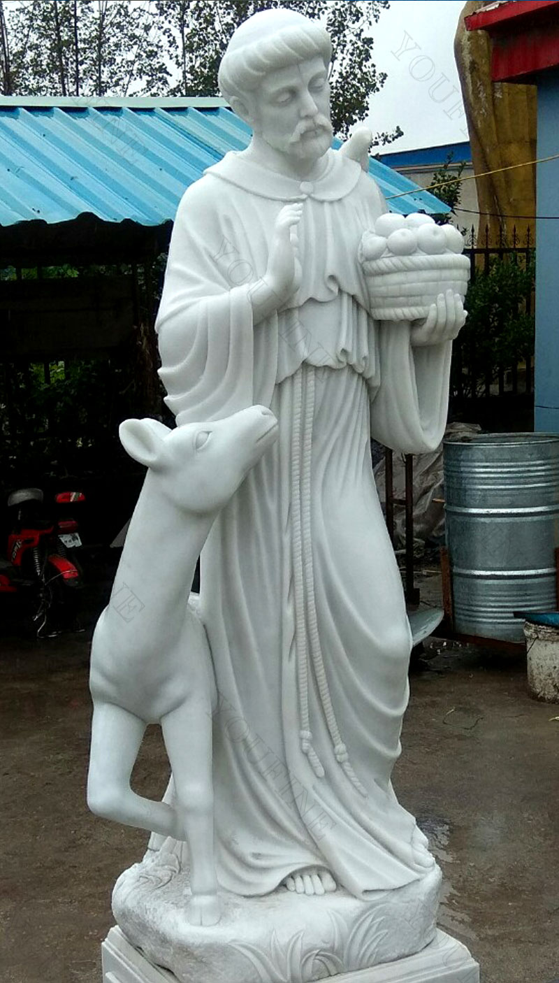 Religious life size sculptures of St. Francis design