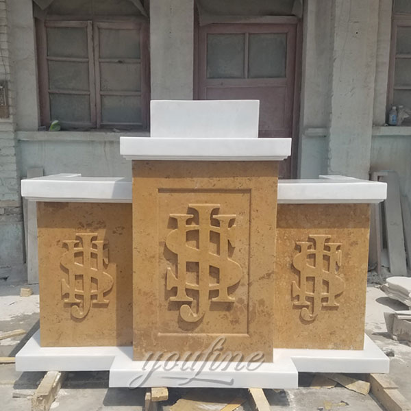 Religious statues of classical design marble pulpit for sale