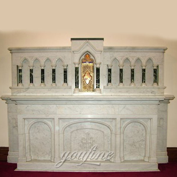 Religious statues of luxury marble altar for church
