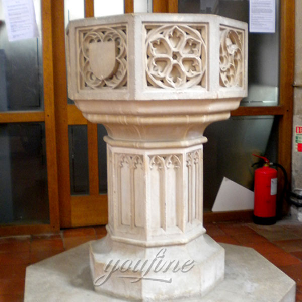 Religious statues of marble carving font for sale