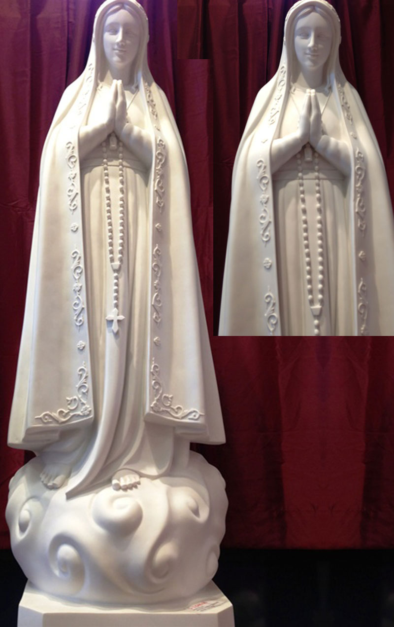 Religious statues of our lady fatima portugal 170cm for church interior decor design
