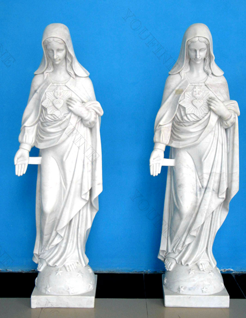 life size sacred heart mary garden statues for catholic church designs