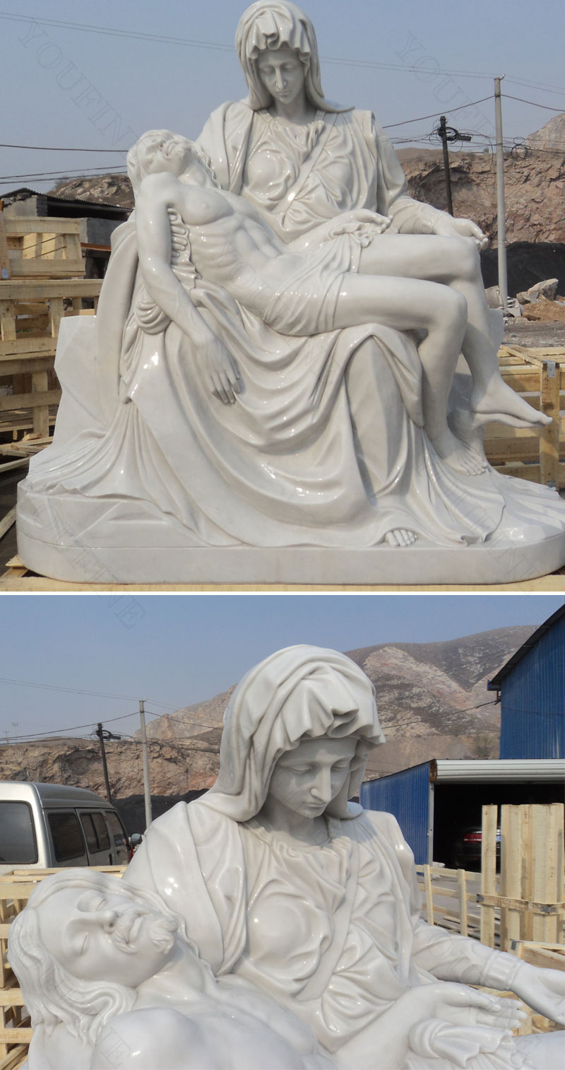 michelangelo pieta sculpture details
