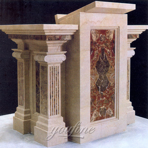 Religious statues of luxury antique marble altar for church decor