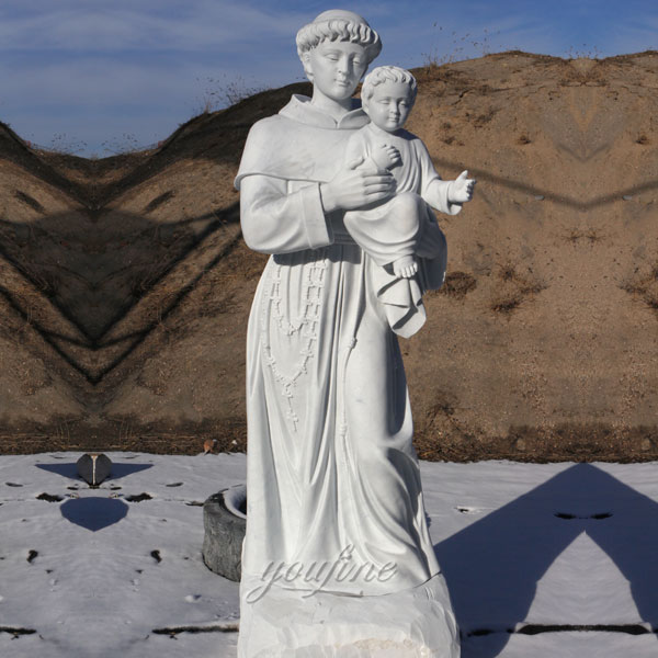 72 inch statue of Saint Anthony marble stone design in stock now