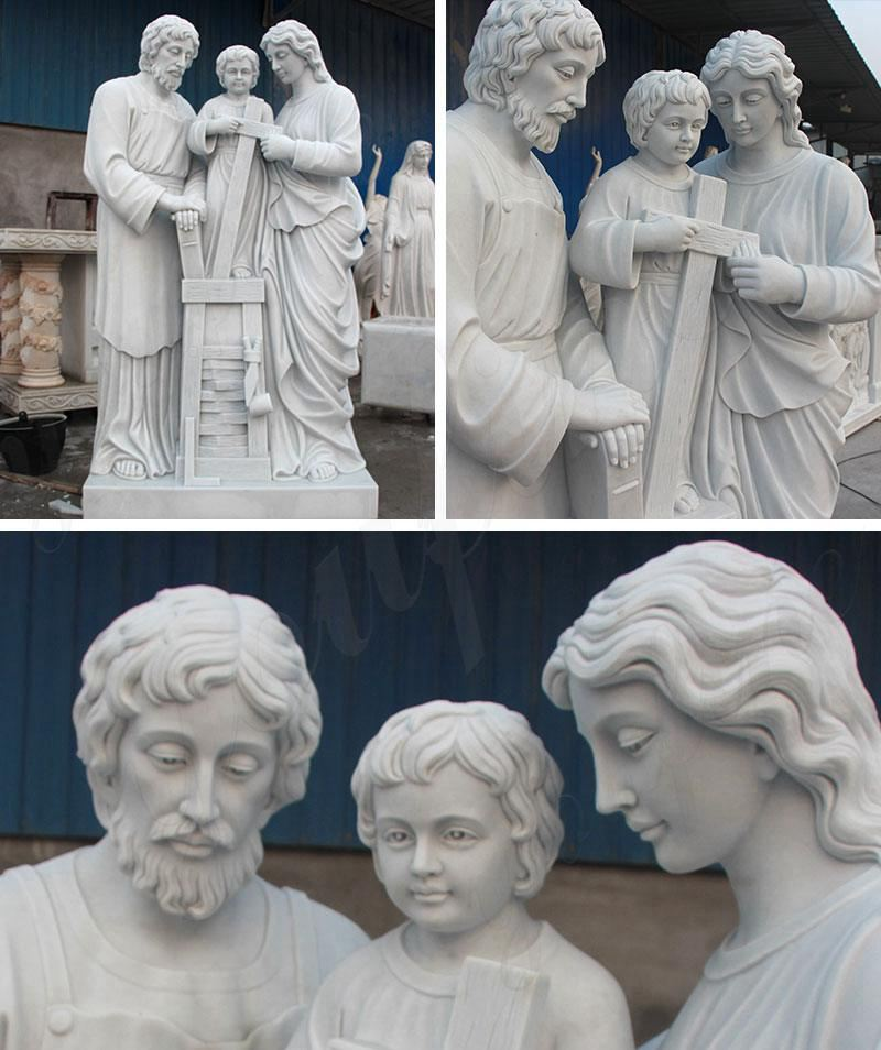 Life Size Holy Family Religious Statues of Mary, Joseph and Jesus Details