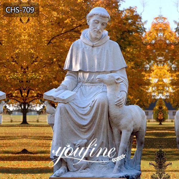 Outdoor Saint Statues St. Francis Garden Sculpture with Animal Supplier CHS-709