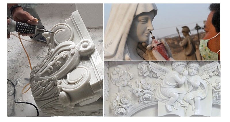 process of Life Size Holy Family Religious Statues of Mary, Joseph and Jesus