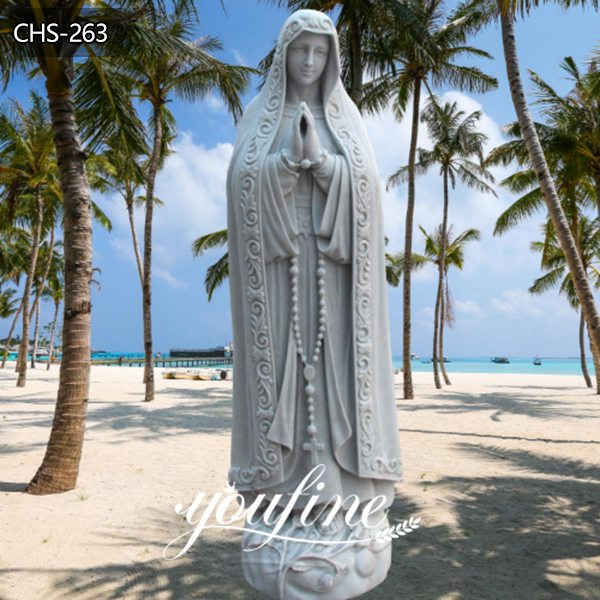 Our Lady of Fatima Marble Statue Virgin Mary Pilgrim Religious Statue for Sale CHS-263