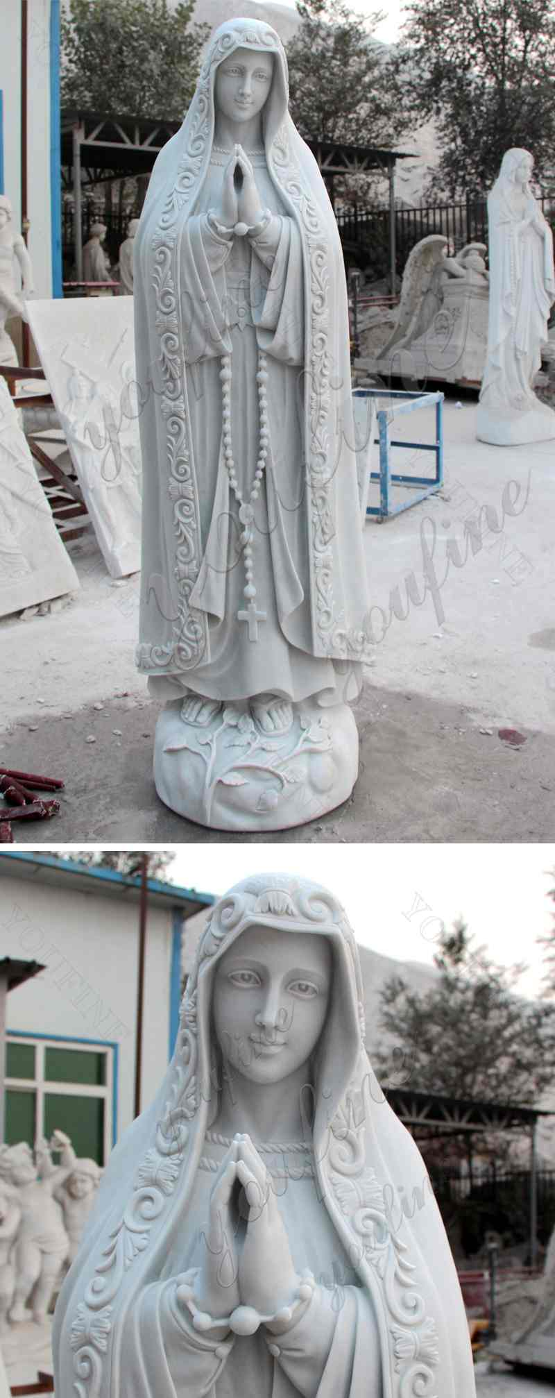 Our Lady of Fatima Marble Statue Virgin Mary Pilgrim Religious Statue for Sale CHS-263 Details
