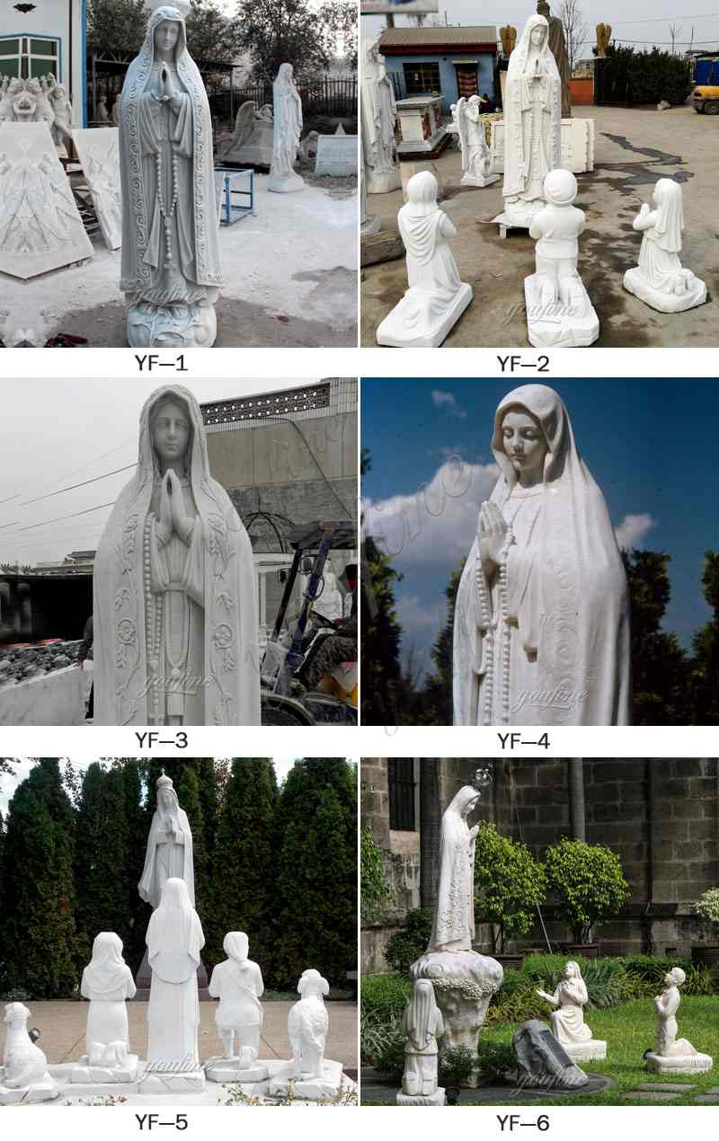 Our Lady of Fatima Marble Statue Virgin Mary Pilgrim Religious Statue for Sale CHS-263 Other Designs