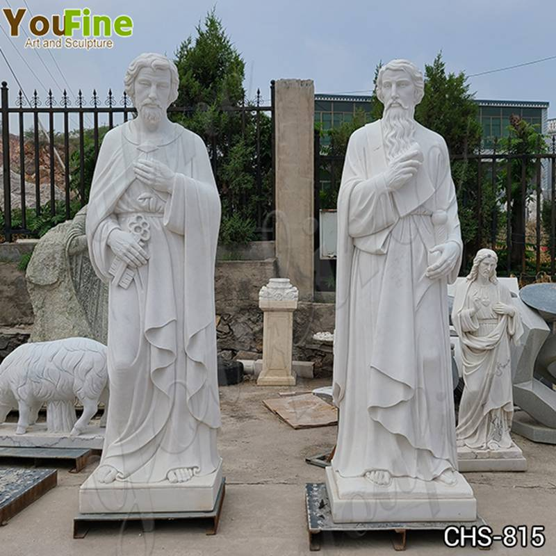 Life Size Hand Carved Marble Saint Peter Garden Statue for Sale CHS-815