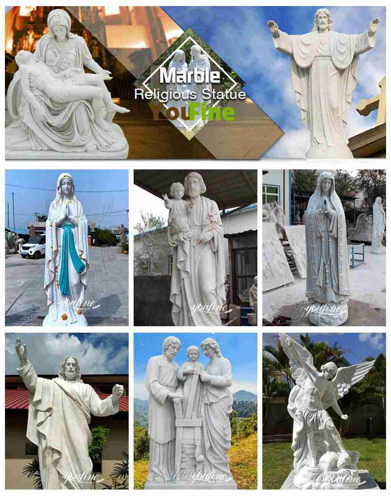 Life Size Hand Carved Marble Saint Peter Garden Statue for Sale More Designs
